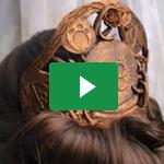 Verzierter Haarkamm / Adorned Hair Comb – Naruvien Art&Design