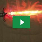 Schwert in Flammen / Pathfinder's Flaming Blade - Cast4Art featuring Miez Cosplay 2